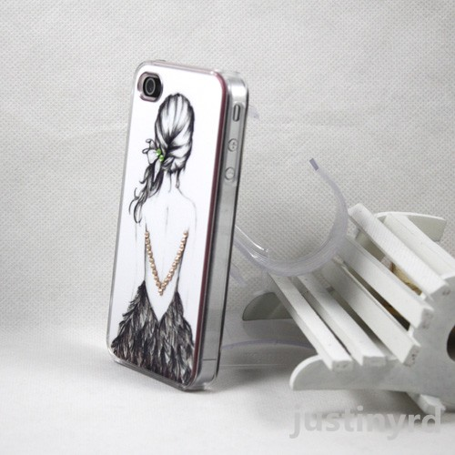 Hard-Bling-Crystal-Clear-Diamond-Battery-Back-Case-Cover-for-iphone-4-4G-4GS